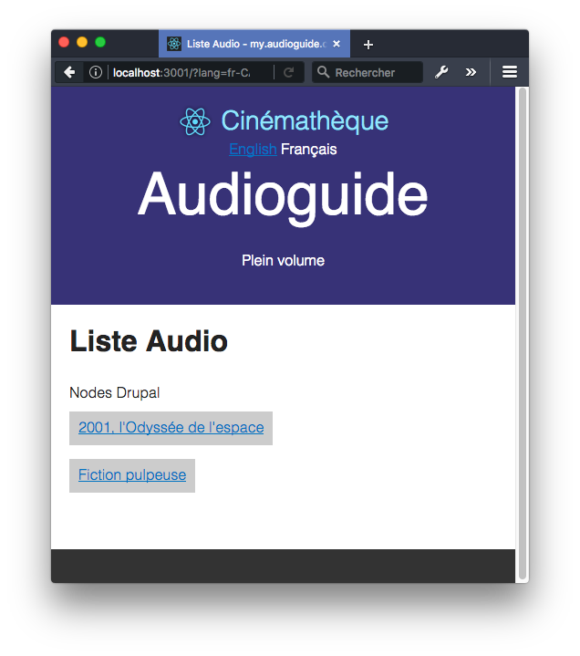 React Audioguide list