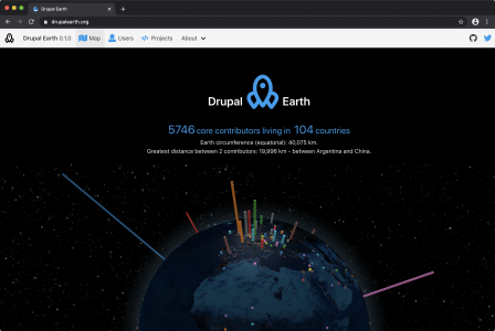 Drupal Earth map