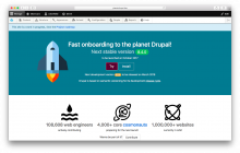 Drupalship.org screenshot